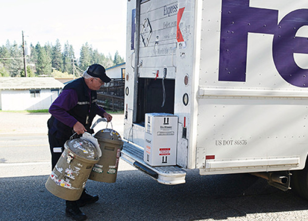 Fed Ex Loading Truck